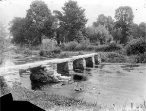 Clapper Bridge over River Leach, Eastleach