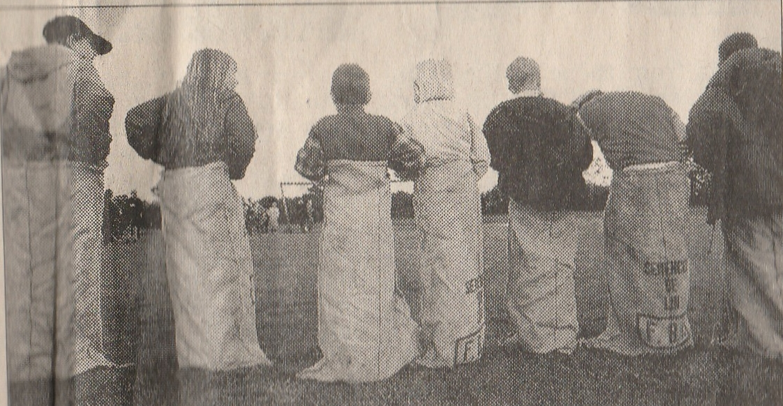 Eastleach Village Frolics - Sack Race - 1996