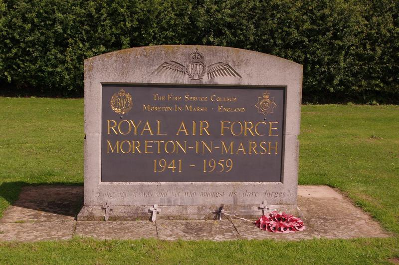Commemorative plaque to the RAF Moreton in Marsh Gloucestershire England
