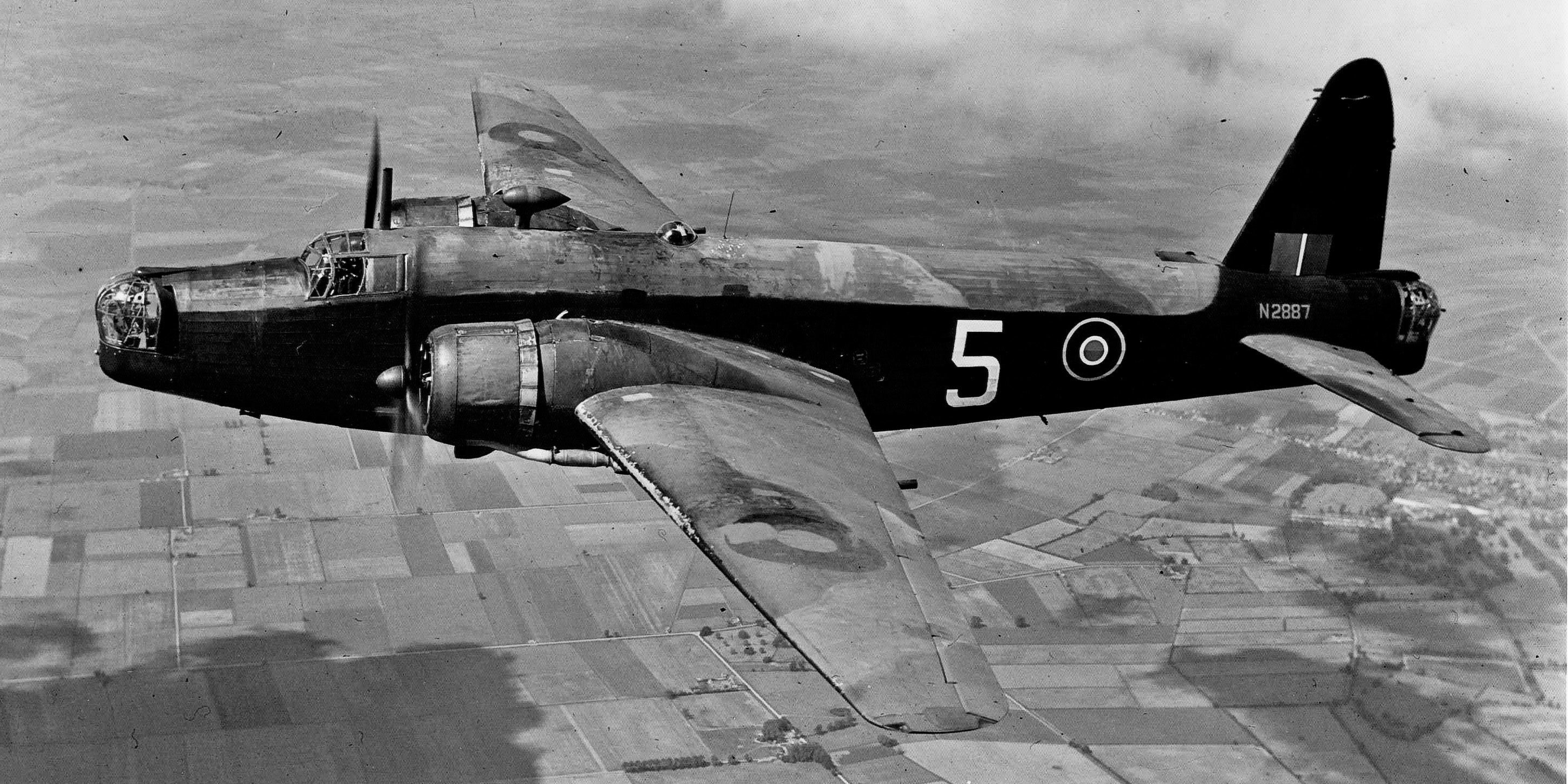 The Vickers Wellington bomber