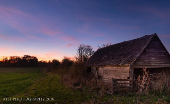 An Eastleach Sunset, Eastleach, Cotswolds, Gloucestershire, England - Photograph by Any Hill, ATH Photography